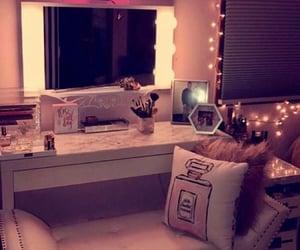 bedroom, lights, and make up image