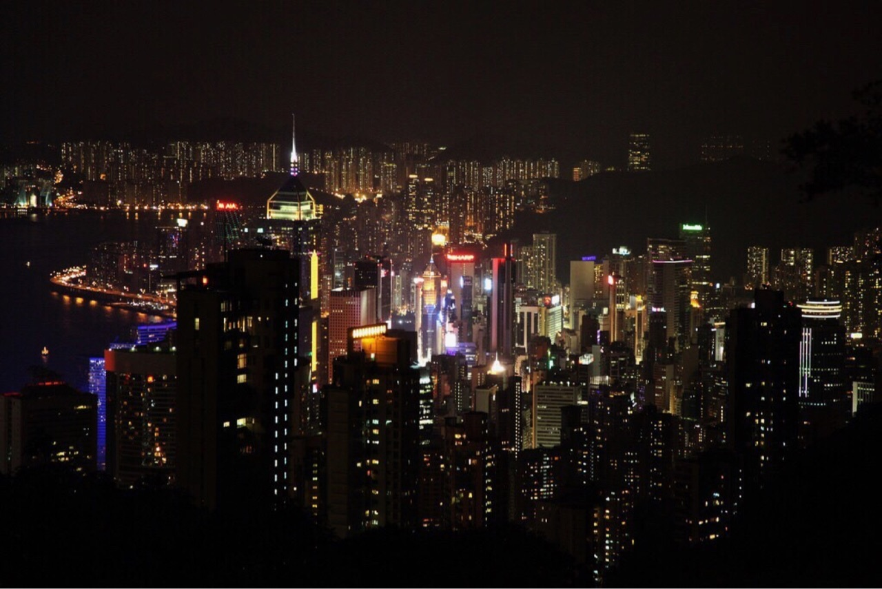 city, lights, and Darkness image