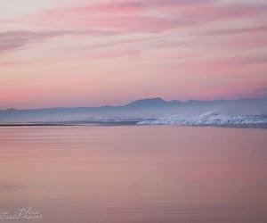 beach, dawn, and horizon image