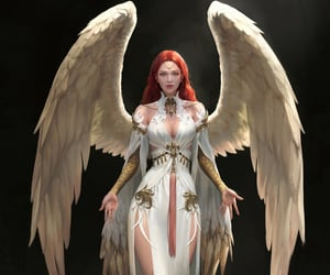 angel, concept art, and game art image