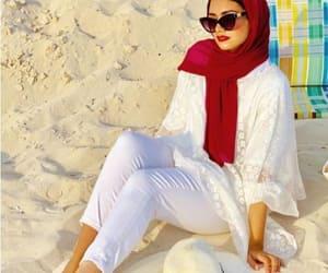 white dress hijab image