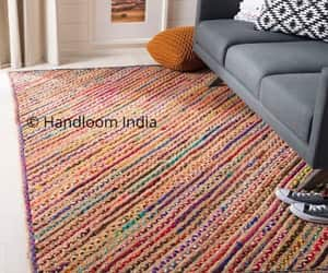 etsy, jute rug, and chindi rugs image