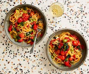 herb, MISO, and pasta image