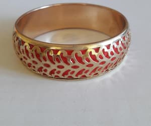 dress up, gold tone, and chunky bracelet image