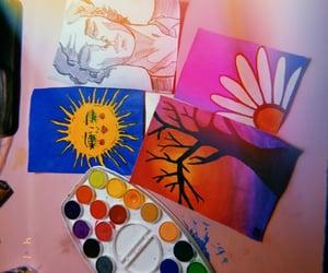 art, blending, and sun image
