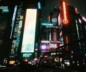 big city, buildings, and cyberpunk image