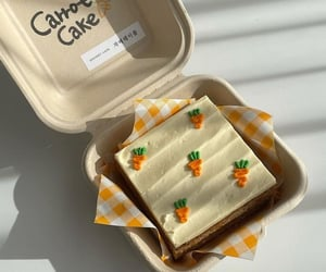 carrot cake, food, and yummy image