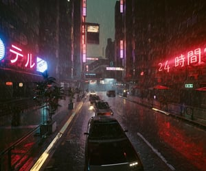 cars, cyberpunk, and neon lights image