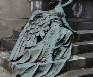 angel, art, and grave image