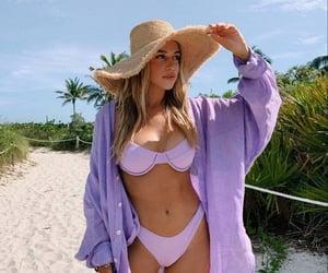 bikini, girl, and purple image