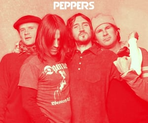 red hot chili peppers, rock, and flea image