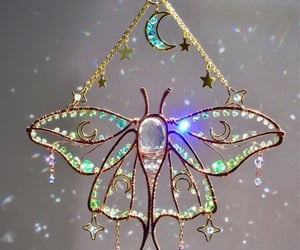 butterfly, charm, and light image