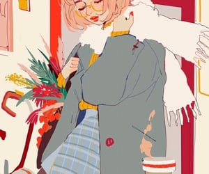 autumn, girl, and illustration image