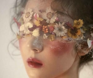flowers, aesthetic, and makeup image