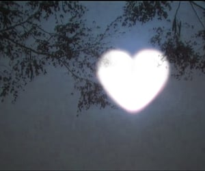 aesthetic, heart, and moon image