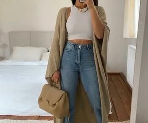 cardigan, mom jeans, and thanya w image