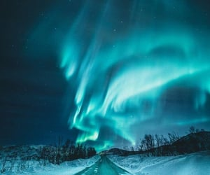 northern lights, photography, and snow image