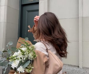 flowers, girl, and hairstyle image