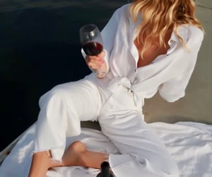 style, wine, and outfit image
