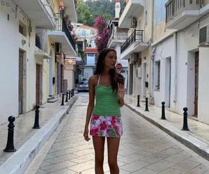street style, everyday look, and hawaiian print image