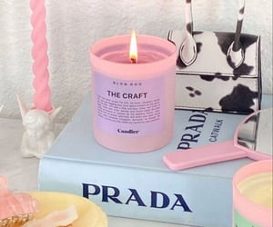 books, candle, and P image