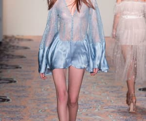 blue dress, see through, and see through dress image