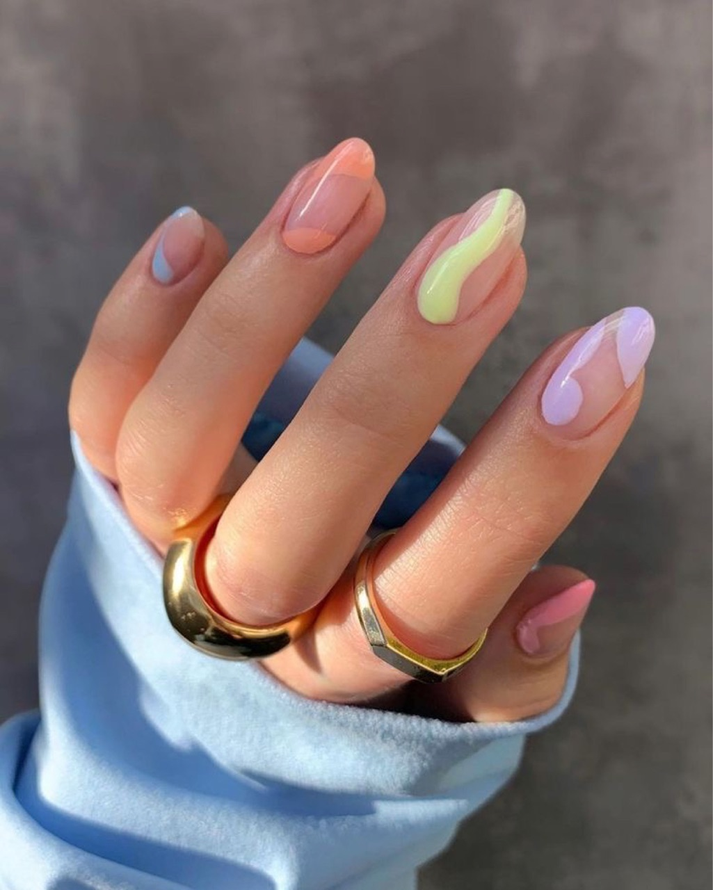 nails, colors, and pastel image