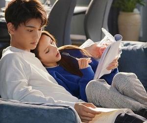 chinese drama, couple, and intense love image