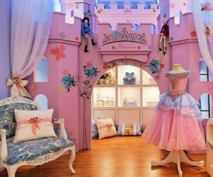 castle, princess, and bedroom image