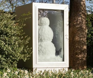 snowman and spring image