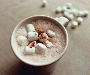 marshmallow, chocolate, and drink image