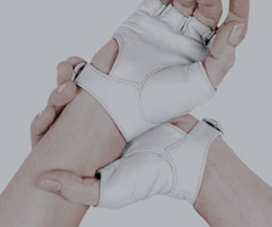 aesthetic, gloves, and white image