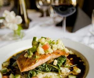 food, salmon, and sea image
