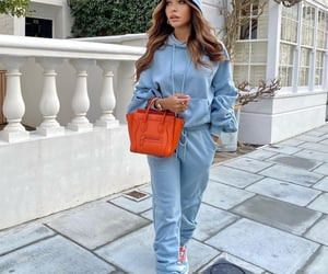 blogger, blue sweater, and fashion image