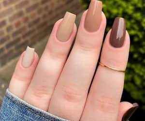 nails, brown, and colors image