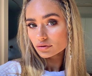 blonde, fall, and braids image