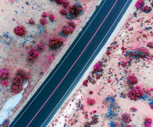 aerial photography, desert, and candycolors image