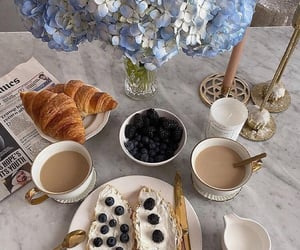 croissant, blueberries, and breakfast image
