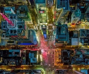 night, drone photography, and aerial photography image
