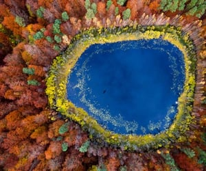 aerial photography, aerial view, and lake image