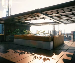 penthouse, afternoon, and cyberpunk image