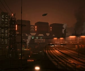 city, dystopian, and industrial image