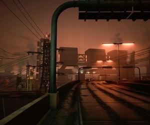 city, cyberpunk, and dark image