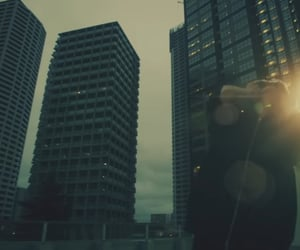 city, dark, and dystopian image