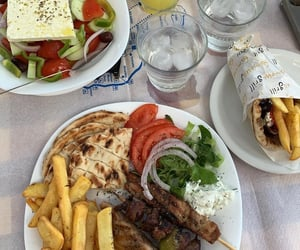 cheese, food, and Greece image