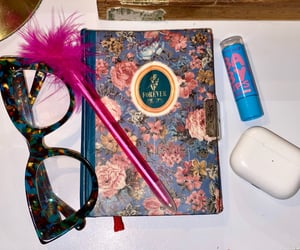 book, girly, and glasses image