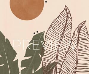 wall art print, printable download art, and boho art illustration image