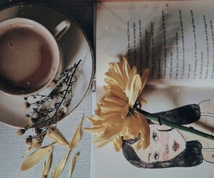 aesthetic, coffee, and drawing image