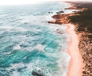 nature, beach, and blue image