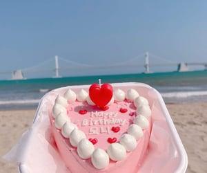 beach, cake, and girly image